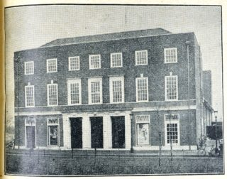 The exterior of the Welwyn Theatre | Welwyn Garden City News 3 February 1928 page 5