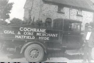 Bill Cochrane and Bob Cochrane (in cab) c1920 | Welwyn Garden City Library