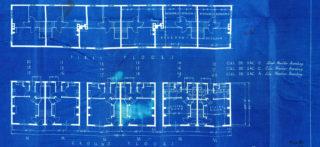 Floor plans of the original houses 11-15 Cul-de-sac D, Cheswick Court, 13-17 Cul-de-sac C, Goblins Green, 16-20 Cul-de-sac A, Athelstan Walk. UDC21/77/204-206   Hertfordshire Archives and Local Studies