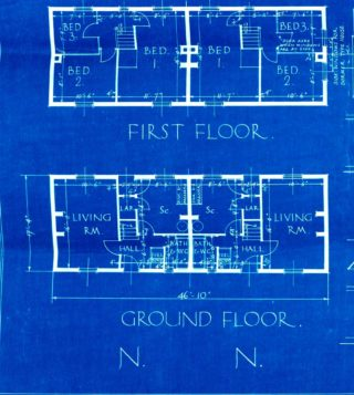 Floor Plans Cul-de-sac E, Woodhall Court UDC21/77/204-206 | Hertfordshire Archives and Local Studies