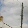 Decorative telegraph pole