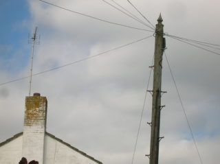 Decorative telegraph pole