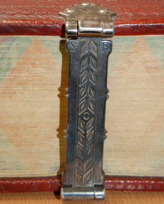 One of the clasps on the St Francis of Assis bible, taken 2015 | Susan Hall