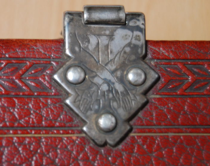Onr of the top clasps on the St Fancis of Assis lecturn bible, taken 2015 | Susan J Hall