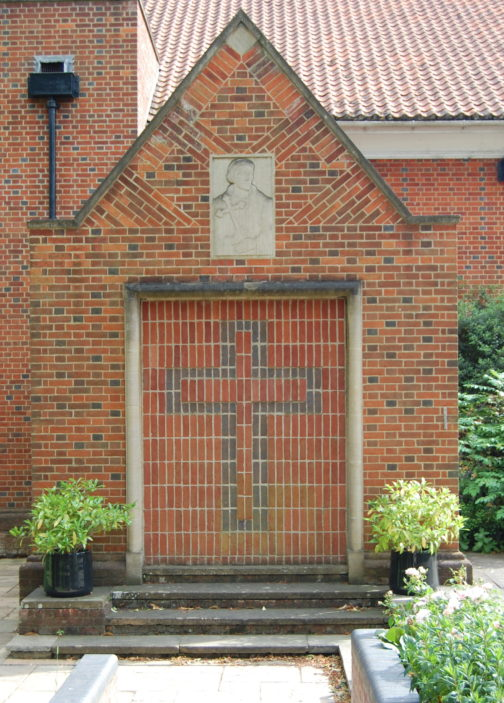 Porch of St Francis of Assisi church, Welwyn Garden City, 2015 | Susan J Hall
