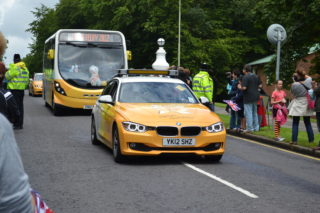 The Torch procession passing over the White Bridge in Digswell Road | Robert Gill
