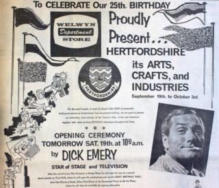 Welwyn Department Store Advertisement for Birthday Celebrations (Top Half) | Hertfordshire Mercury 18 September 1964 page 5