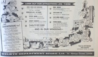 Welwyn Department Store Advertisement for Birthday Celebrations (Bottom Half) | Hertfordshire Mercury 18 September 1964 page 5