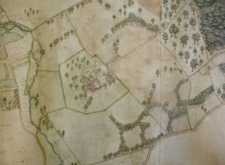 Map of the manor of Digswell, 1599 | [HALS: Ref DE/P/P1]