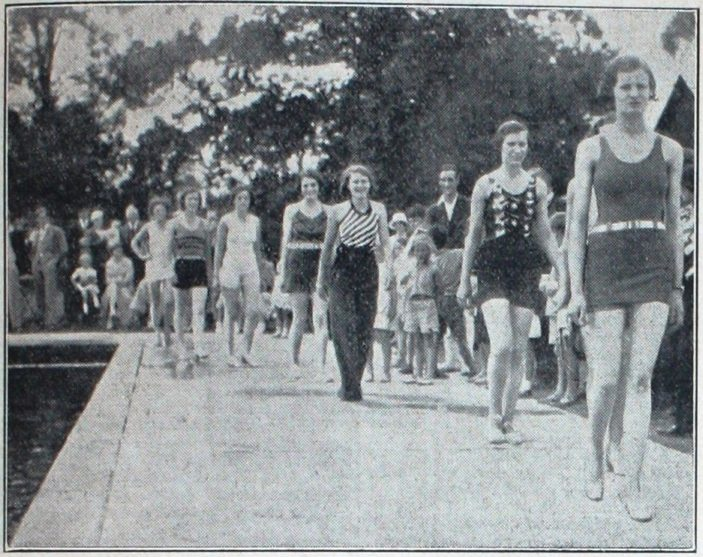 Aquatic Mannequins parade for the opening of the pool June 1933 | Welwyn Timws 29 June 1933 page 1