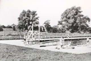 Diving Stage at swimming pool c1939 | Hertfordshire Archives and Local Studies