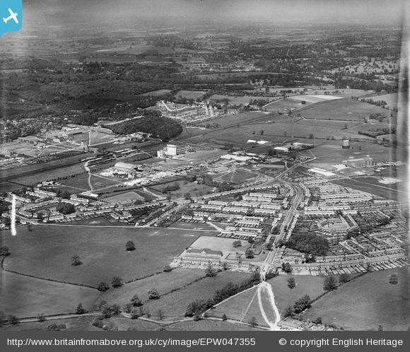 Peartree and environs from south east - 1935 | English Heritage