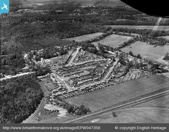 Sherrardspark Wood and housing around Walden Place - 1935 | English Heritage