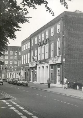 Embassy Cinema before demolition in 1984. Playing is 'Friday 13th, Part II'   Welwyn Garden City Library