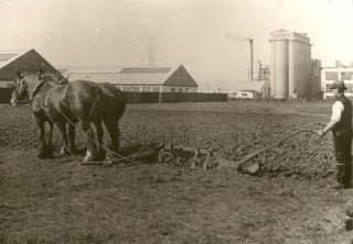 Farming the site before British Lead Mills was constructed - c1928 | BLM