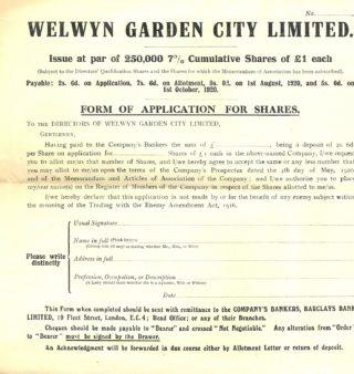 The Second Garden City Ltd Prospectus | Welwyn Garden City Library