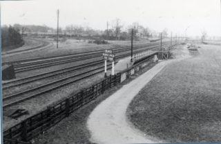 Great Northern Main line showing the branch line turning west around what is now The Campus | Hertfordshire Archives and Local Studies