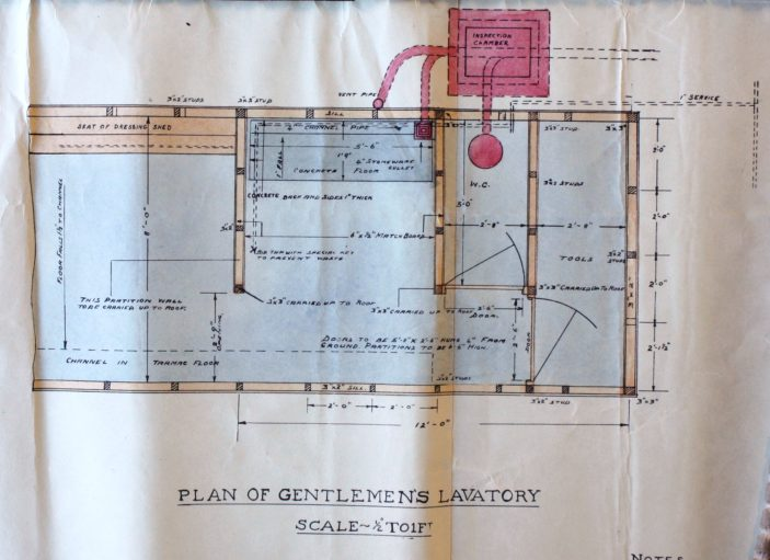 Plan of Gentlemens Lavatory UDC21/77/210 1933 | Hertfordshire Archives and Local Studies