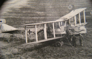 Example of a Gotha bomber used in the bombing raids on London in 1917.