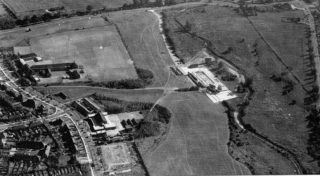 1959 - near the top left hand corner is what is now Stanborough School, and the old Garden City Grammar School where I was for 5 years. Amongst the trees and grassland is the swimming pool.