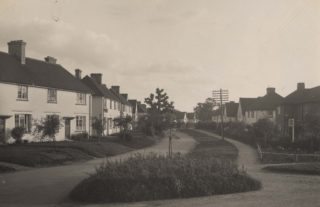 Handside Lane, 1920's, taken from the junction with Russellcroft Road | Hertfordshire Archives and Local Studies