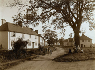 Handside lane soon after first houses had been completed, 1920s | Welwyn Garden City Library