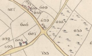 Detail of Hatfield Tithe Map 1838, showing plot 629 & 630 | Hertfordshire Archives and Local Studies