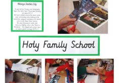 Holy Family School - pupils' collages of WGC
