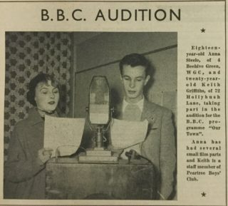 Two teenagers during an audition for the recording. | Welwyn Times