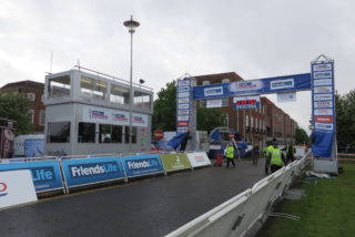 Preparing the finish line in Parkway | Robert Gill