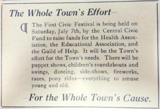 Notice in the Welwyn News 22 June 1928   Welwyn News
