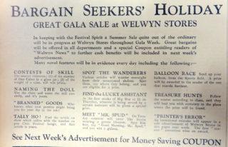 Welwyn Stores Gala Sale events   Welwyn News