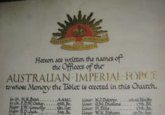 Australians Commemorated in Digswell