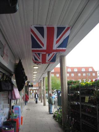Outside Church Road shops   Robert Gill