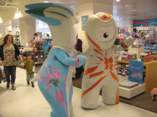 Wenlock and Mandeville visit John Lewis the day before the torch arrives | Robert Gill