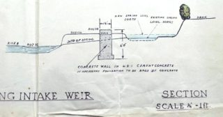 Details of intake weir UDC21/77/210 1933 | Hertfordshire Archives and Local Studies