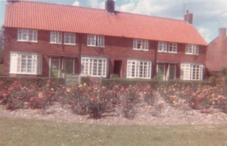 The family home in Handside Lane. If children used to run through the flowerbeds Joy remembered her dad always went out and told them off!
