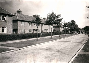 The left home on Knella Road where we lived, 1947