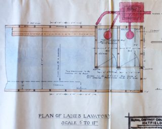 Plan of Ladies Lavatory UDC21/77/210 1933 | Hertfordshire Archives and Local Studies