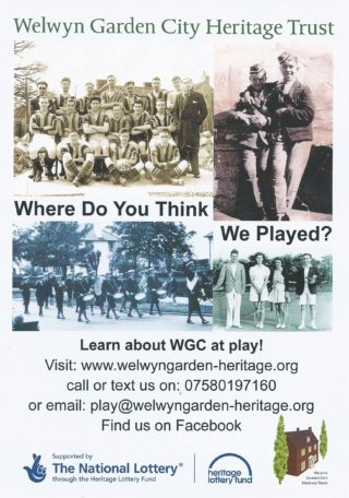 Leaflet about the Play project | Welwyn Garden City Heritage Trust