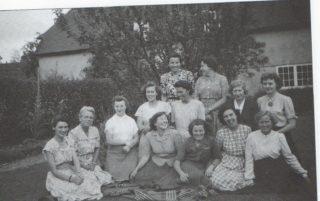 Ludwick School staff 1950: Miss Bush, Miss Roth, Miss Gilmore, Miss Salmon, Miss Sawfield, Miss Collins, Miss McKelvie, Miss Johnson and Miss Bradshaw.