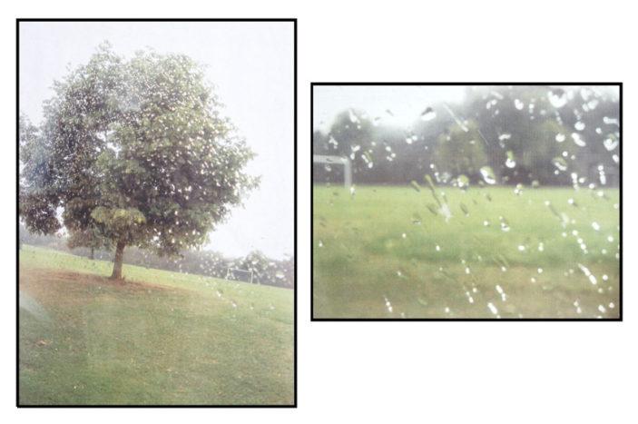 Raindrops - My neighbourhood. It's the school field while it was raining. | Helena