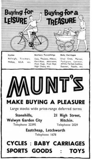 Advert from 1962 Town Handbook | WGC Library