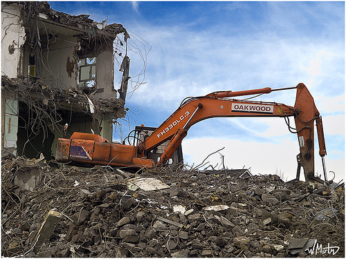 Demolition in progress | Bill Martin