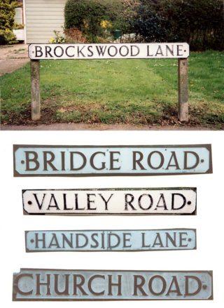 Appendix F WGC street signs in Nuneaton script