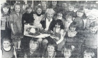 Miss Richardson on her retirement | Welwyn and Hatfield Times 22 March 1978 page 7