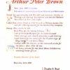 Arthur Peter Brown (APB) 1889 - 1950