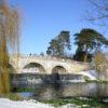 Brocket Hall Bridge in Winter