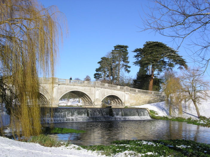 Brocket Hall Bridge in Winter