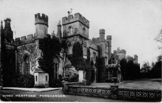 Postcard of Panshanger House, undated, in all its glory | Andy Tye